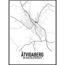 Åtvidaberg Karta Poster