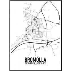 Bromölla Karta Poster