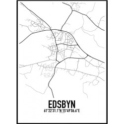 Edsbyn Karta Poster