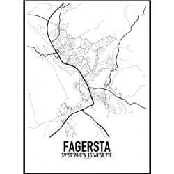 Fagersta Karta Poster