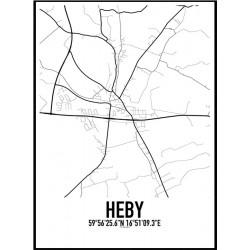 Heby Karta Poster