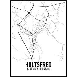 Hultsfred Karta Poster