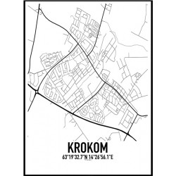 Krokom Karta Poster