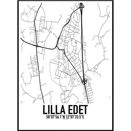 Lilla Edet Karta Poster