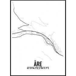 Åre Karta Poster