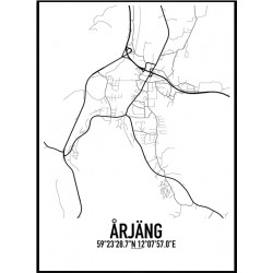 Årjäng Karta Poster