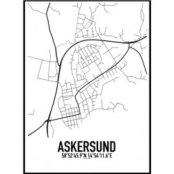 Askersund Karta Poster