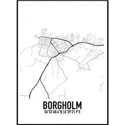 Borgholm Karta Poster