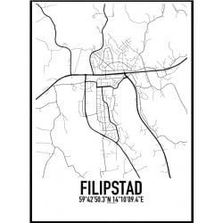 Filipstad Karta Poster