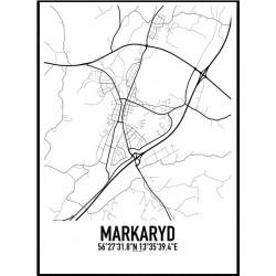Markaryd Karta Poster