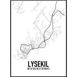 Lysekil Karta Poster