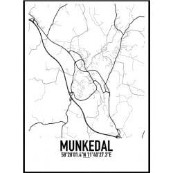 Munkedal Karta Poster