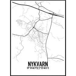 Nykvarn Karta Poster