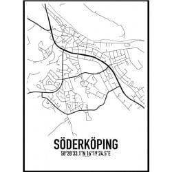 Söderköping Karta Poster