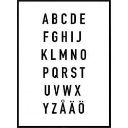 Alfabetet Poster