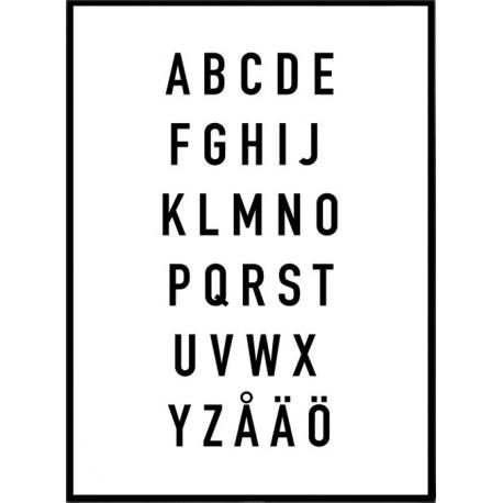 Alfabetet Poster K 246 P Planscher Med Alfabetet Online