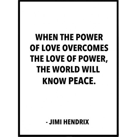 Jimi Hendrix Affisch