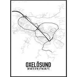 Oxelösund Karta Poster