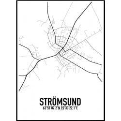 Strömsund Karta Poster