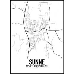 Sunne Karta Poster