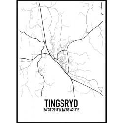 Tingsryd Karta Poster
