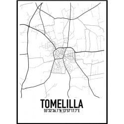 Tomelilla Karta Poster