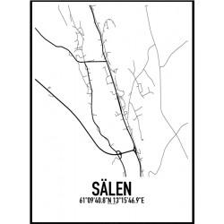 Sälen Karta Poster