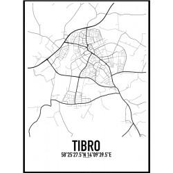 Tibro Karta Poster