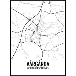 Vårgårda Karta Poster