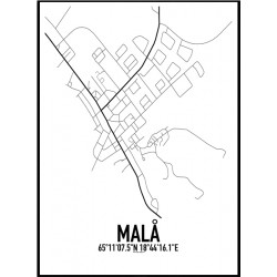 Malå Karta Poster