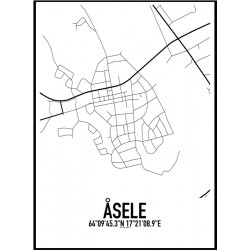 Åsele Karta Poster