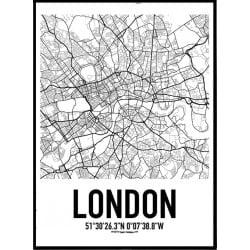 London Karta Poster
