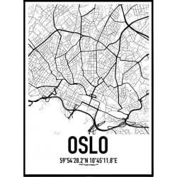 Oslo Karta Poster
