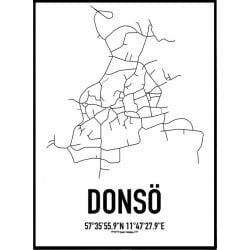 Donsö Karta Poster