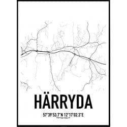 Härryda Karta Poster