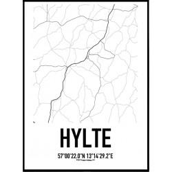 Hylte Karta Poster