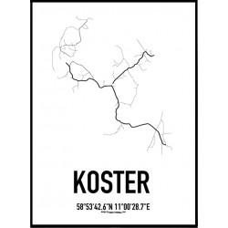 Koster Karta Poster