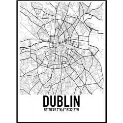 Dublin Karta Poster