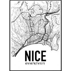 Nice Karta Poster