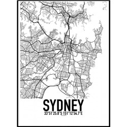 Sydney Karta Poster
