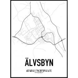 Älvsbyn Karta Poster