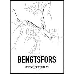 Bengtsfors Karta Poster