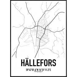 Hällefors Karta Poster