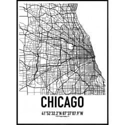Chicago Karta Poster