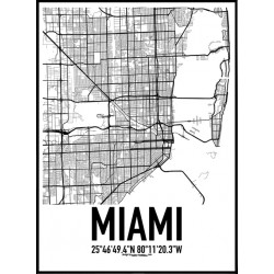 Miami Karta Poster
