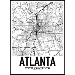 Atlanta Karta Poster