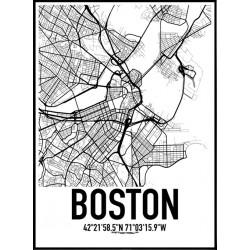 Boston Karta Poster