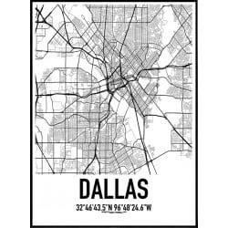 Dallas Karta Poster