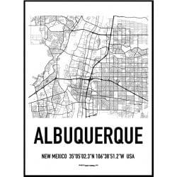 Albuquerque Karta Poster
