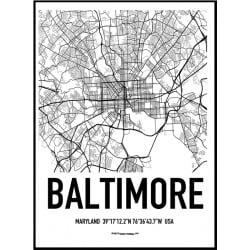 Baltimore Karta